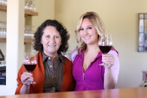 Amelia and Dalia Ceja Inside Wine Tasting Room