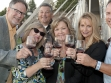 Guests enjoying glasses of Opolo Wine