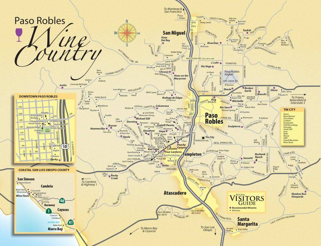 paso robles wine map