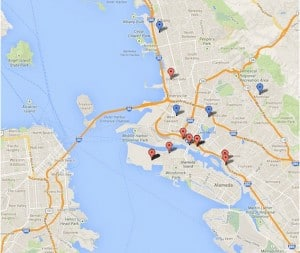 SF East Bay Wine Map