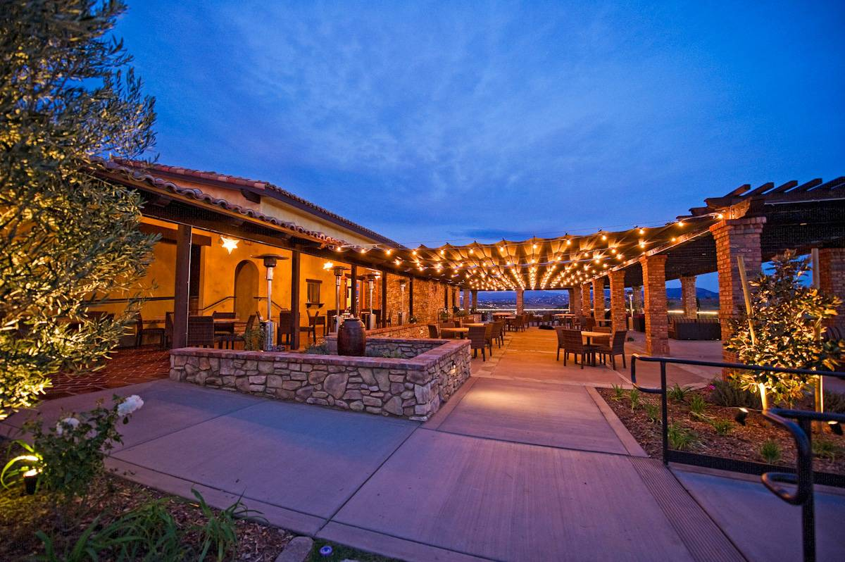 Miramonte Winery Temecula at night