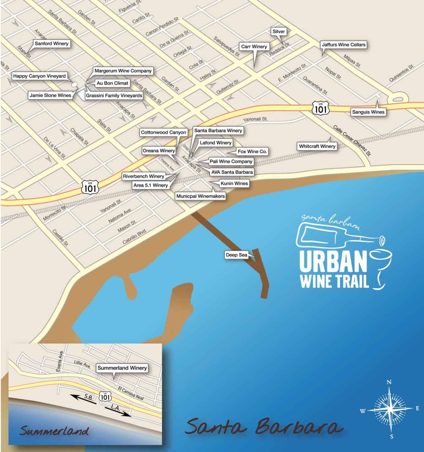 santa barbara urban wine trail map