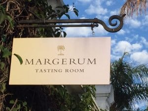 margerum tasting room sign