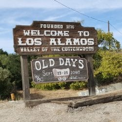 Loa Alamos wine tasting sign