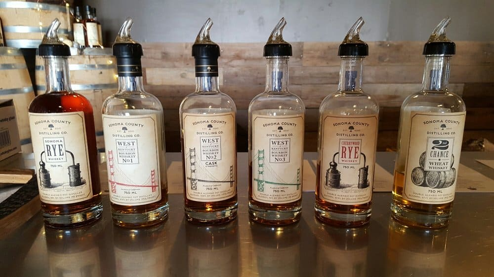 lineup of sonoma whiskey