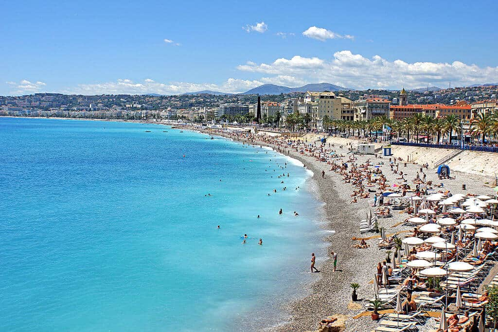 Caption: The city of Nice on the French Riviera. Photo By