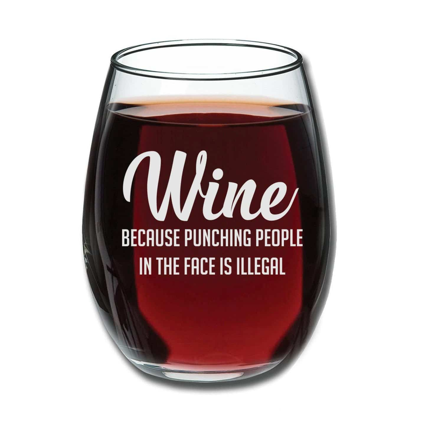 funniest wine glass